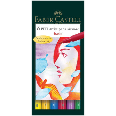 Faber Castell Fine Pitt Brush Pen Sets of 6