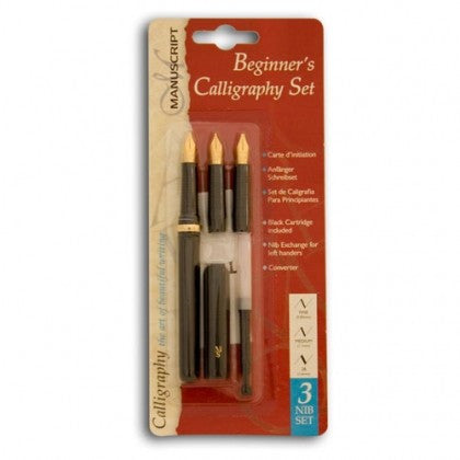 Manuscript Beginners Calligraphy 3 Nib Set