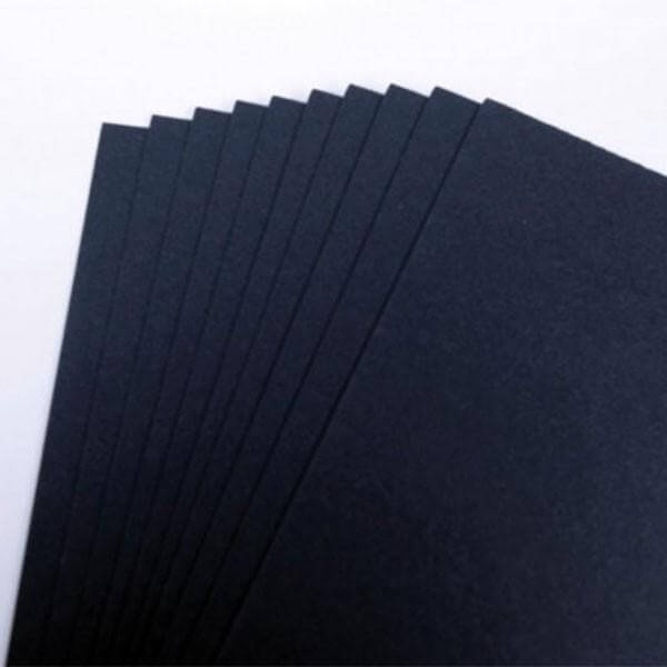 300gsm Recycled Black Card - 50 Sheet Packs