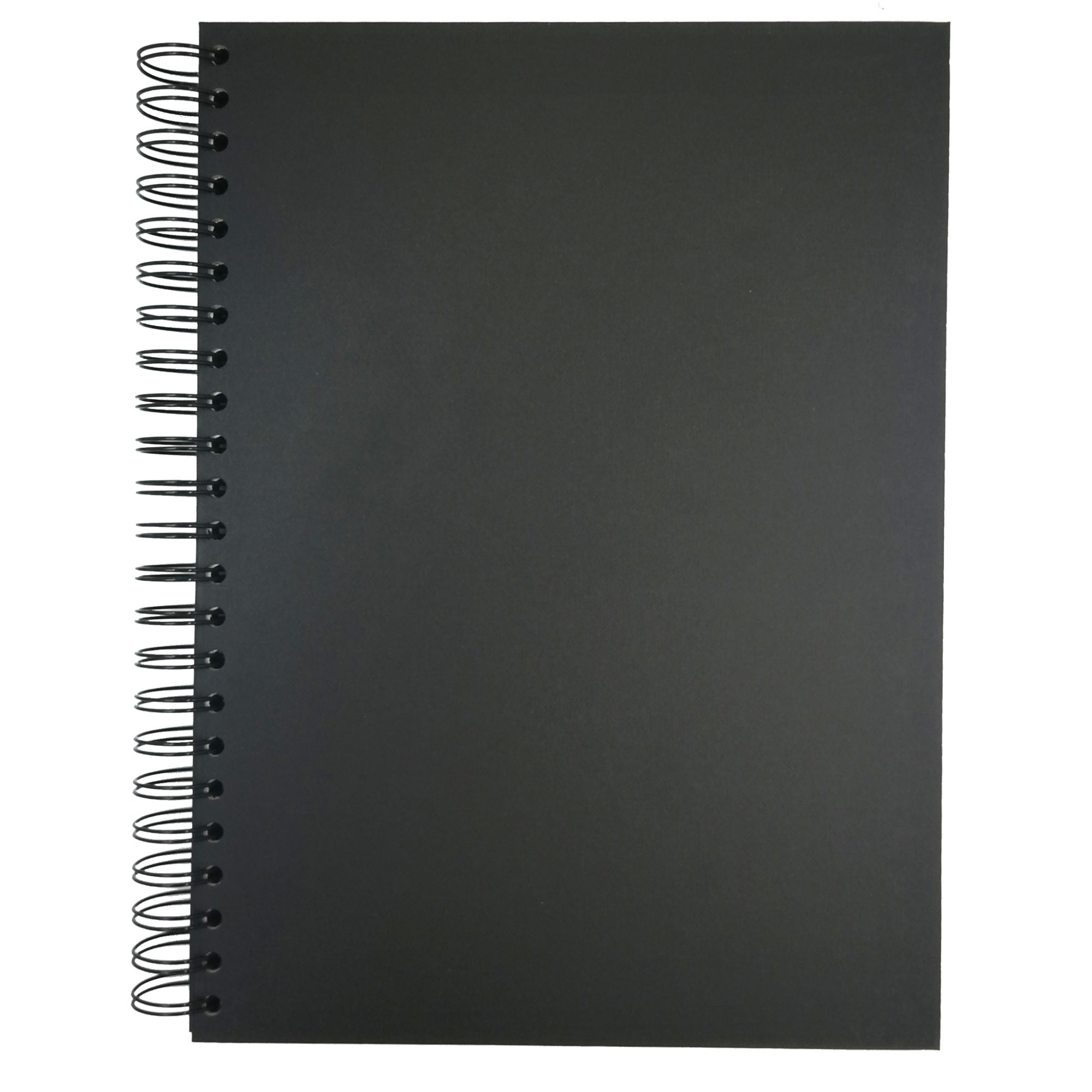 Seawhite Black Paper Hard Back Spiral Sketchbook