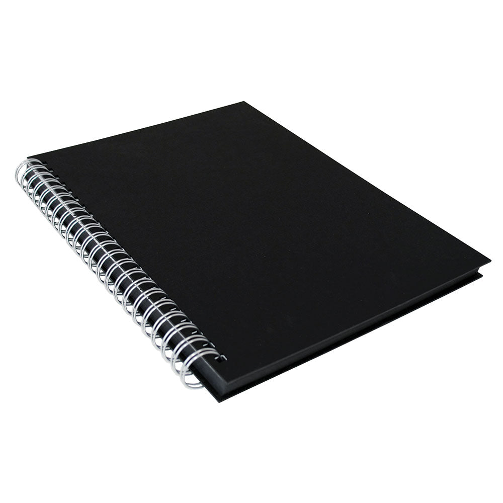 Black Paper Hard Back Spiral Sketchbook