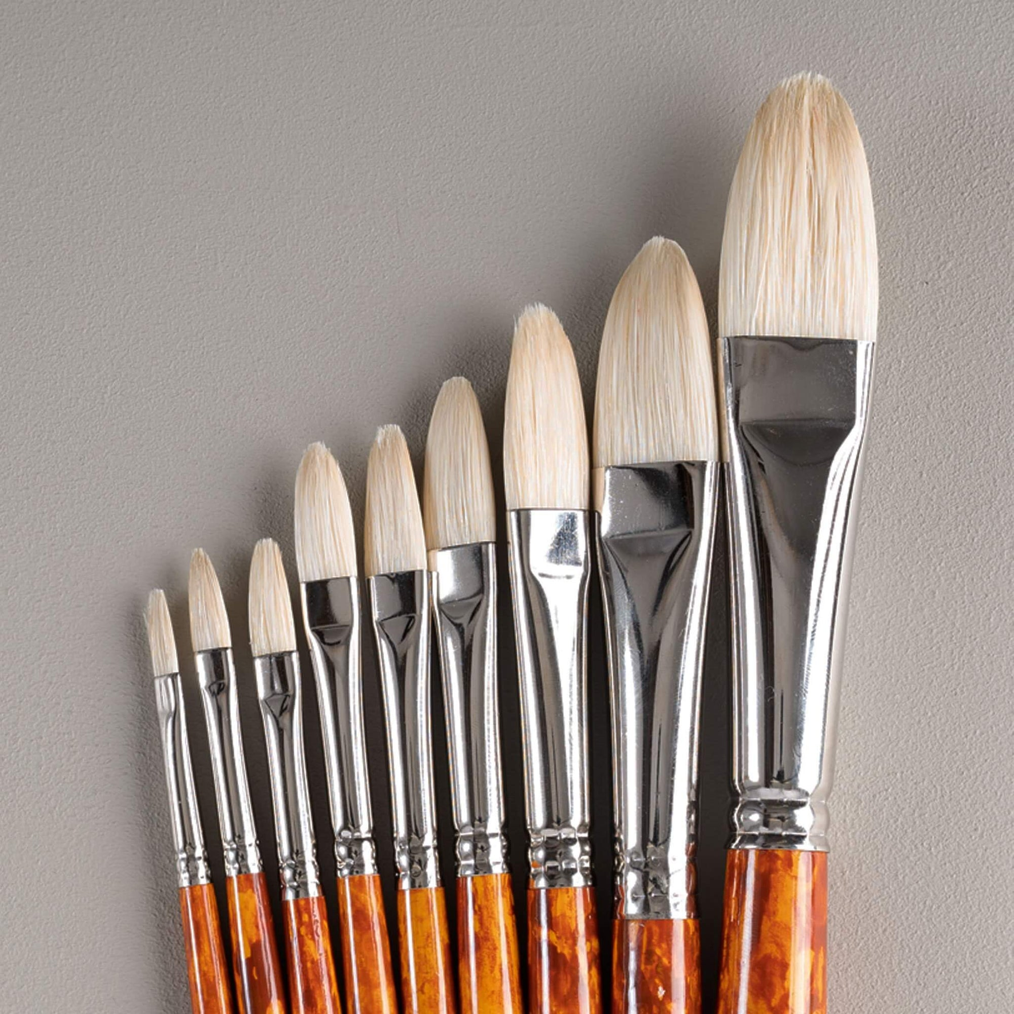 ARTdiscount Bristle Brushes - Filbert