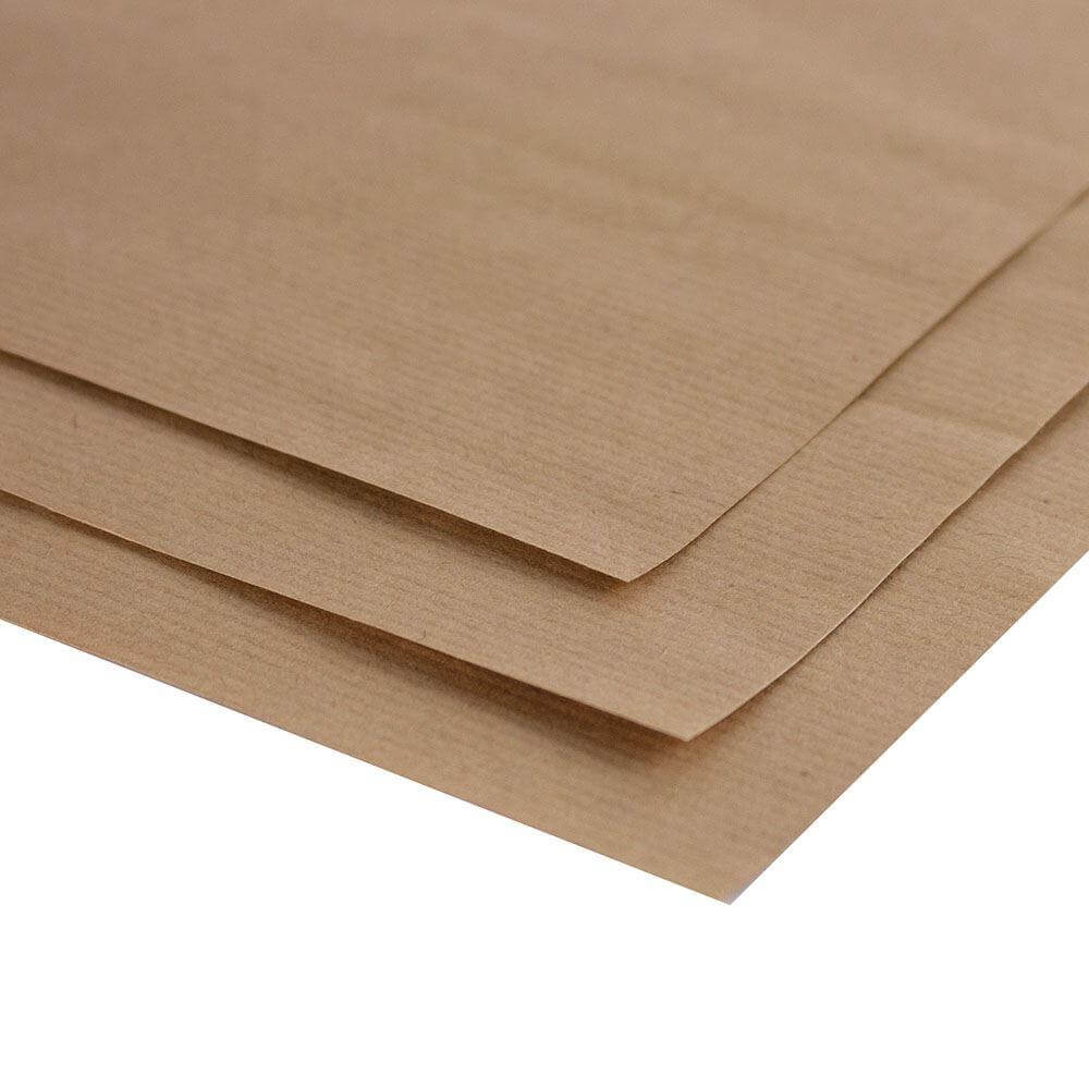 A3 Brown Kraft Paper Ribbed - Pack of 10 Sheets