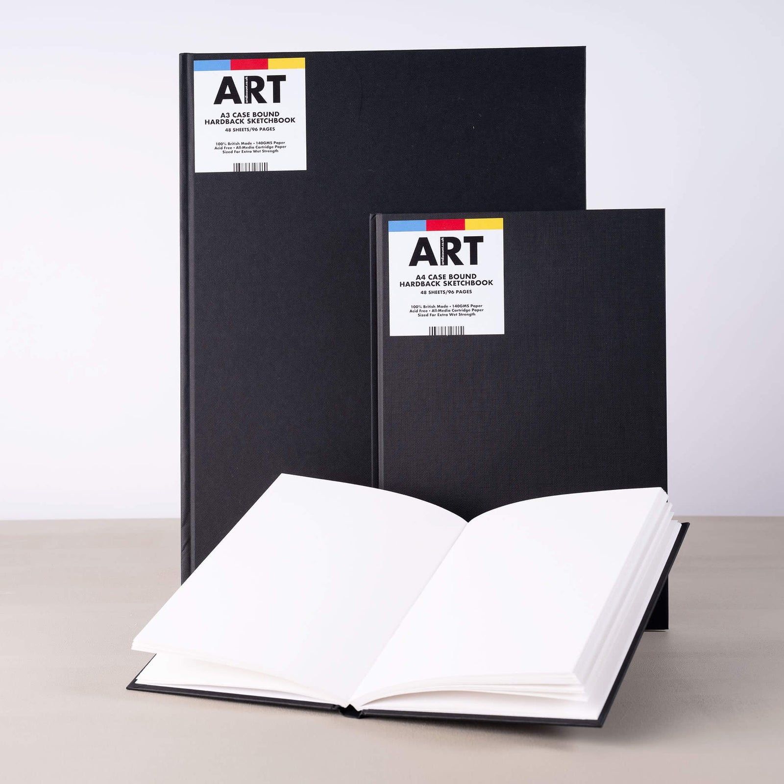GOLDLINE A3 /& A4 BLACK HARDBACK SPIRAL BOUND ARTIST SKETCH DRAWING BOOKS PADS