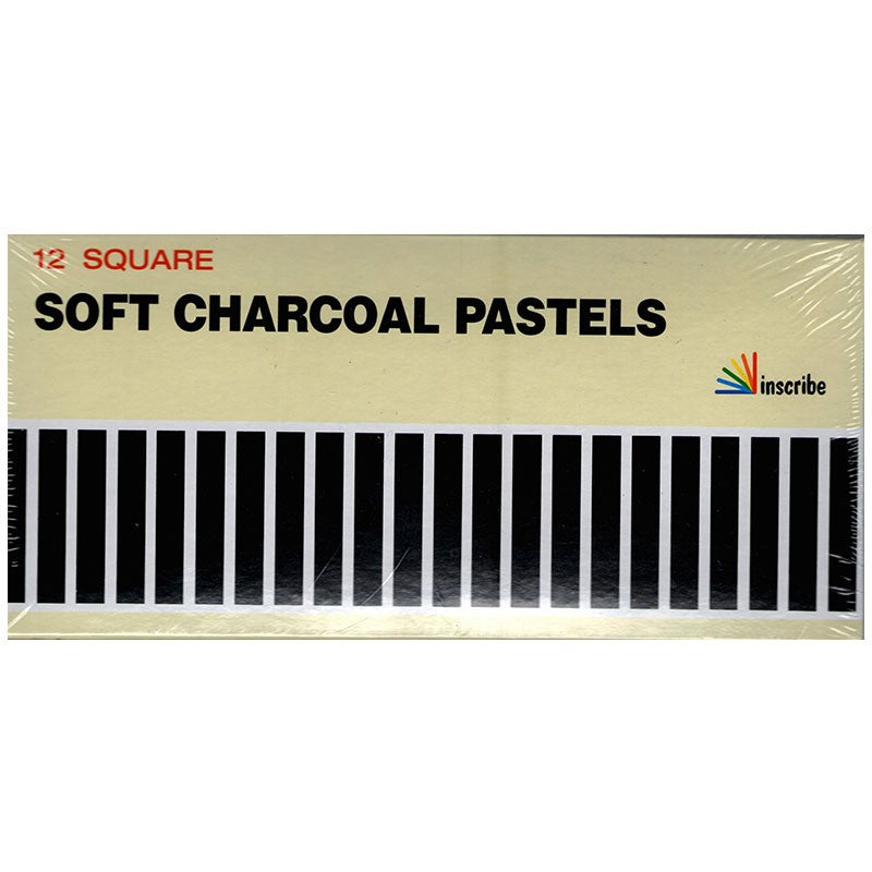 Inscribe Soft Charcoal Pastels - Set of 12 Square Pastels