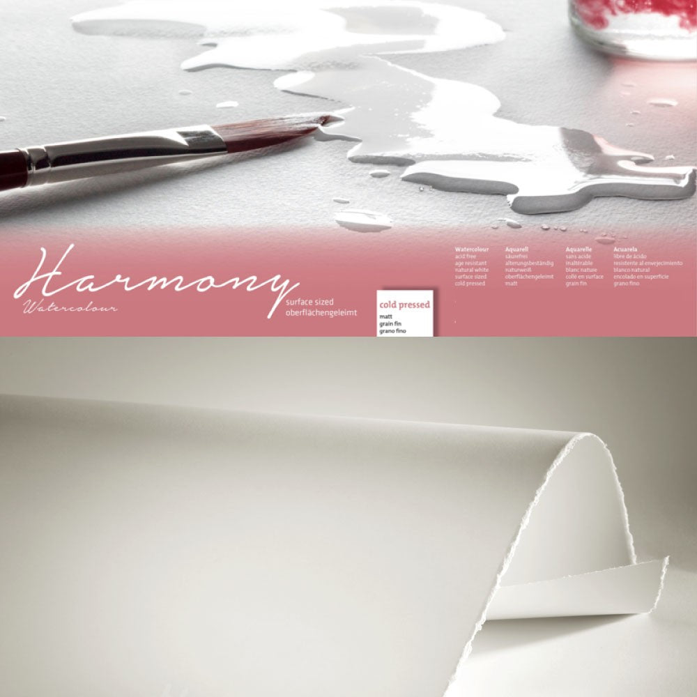 Hahnemühle 'Harmony' Watercolour Sheets - 50 x 65 - Cold Pressed - 10 Sheets - 300gsm