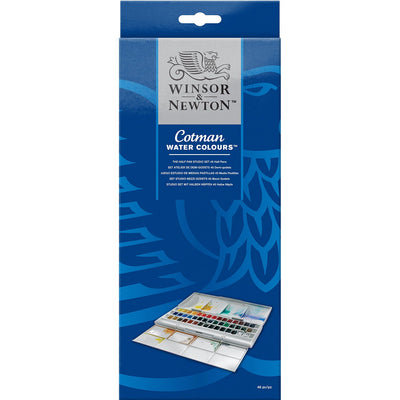 Cotman 45 Half Pan Studio Set Watercolours