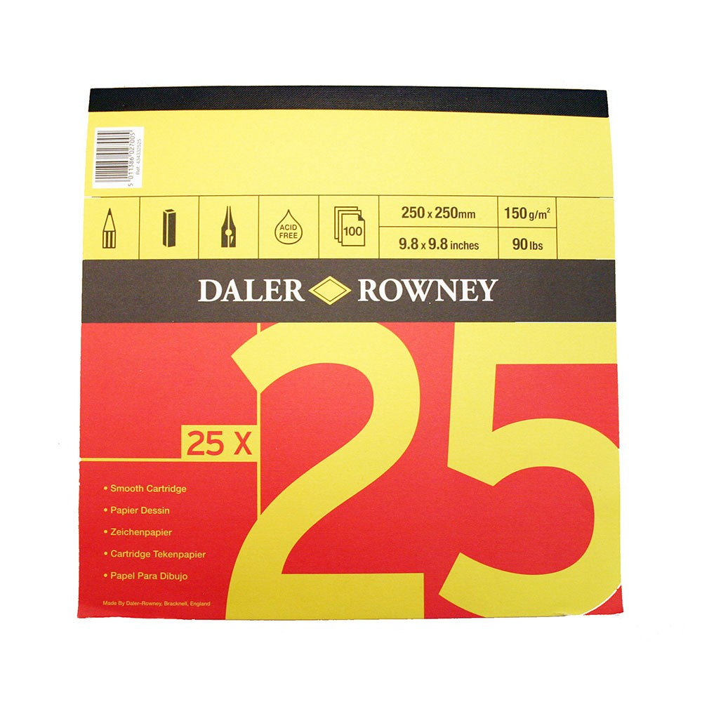 Daler Rowney Red & Yellow Jumbo Cartridge Pad