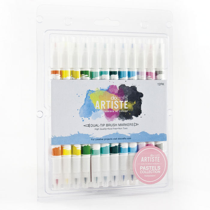 Docrafts Artiste Dual Tip PASTEL Brush Markers