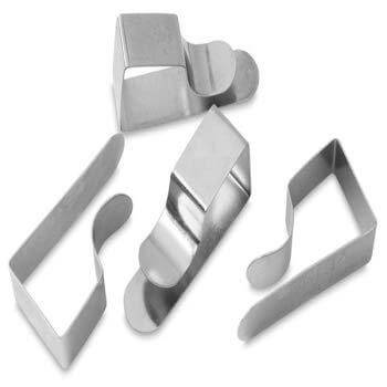 ARTdiscount ISOmars Drawing Board Clips - Metal Set of 4