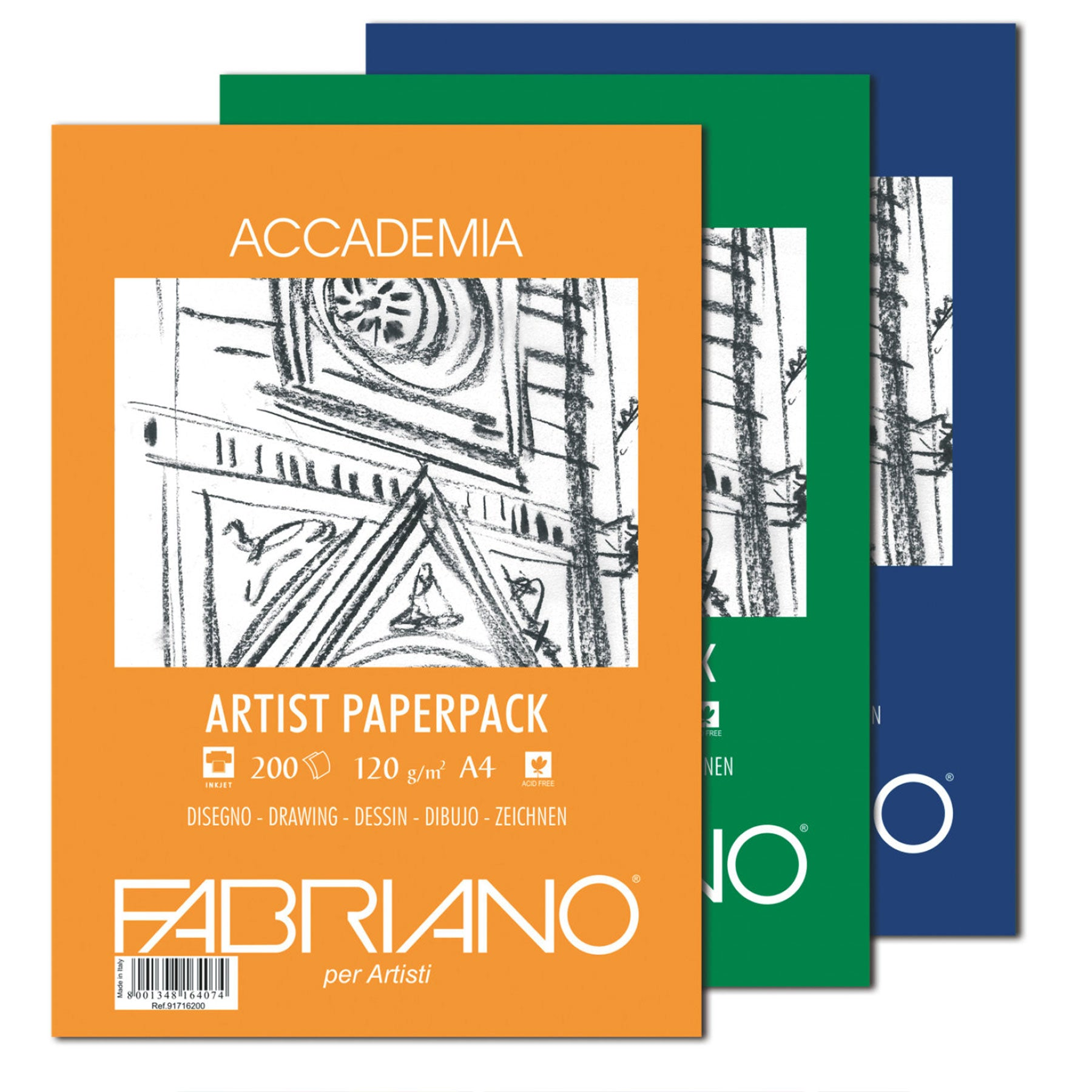 Fabriano Accademia Artists Packs