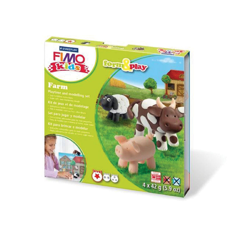 Staedtler Fimo Kids Form & Play Set - Farm