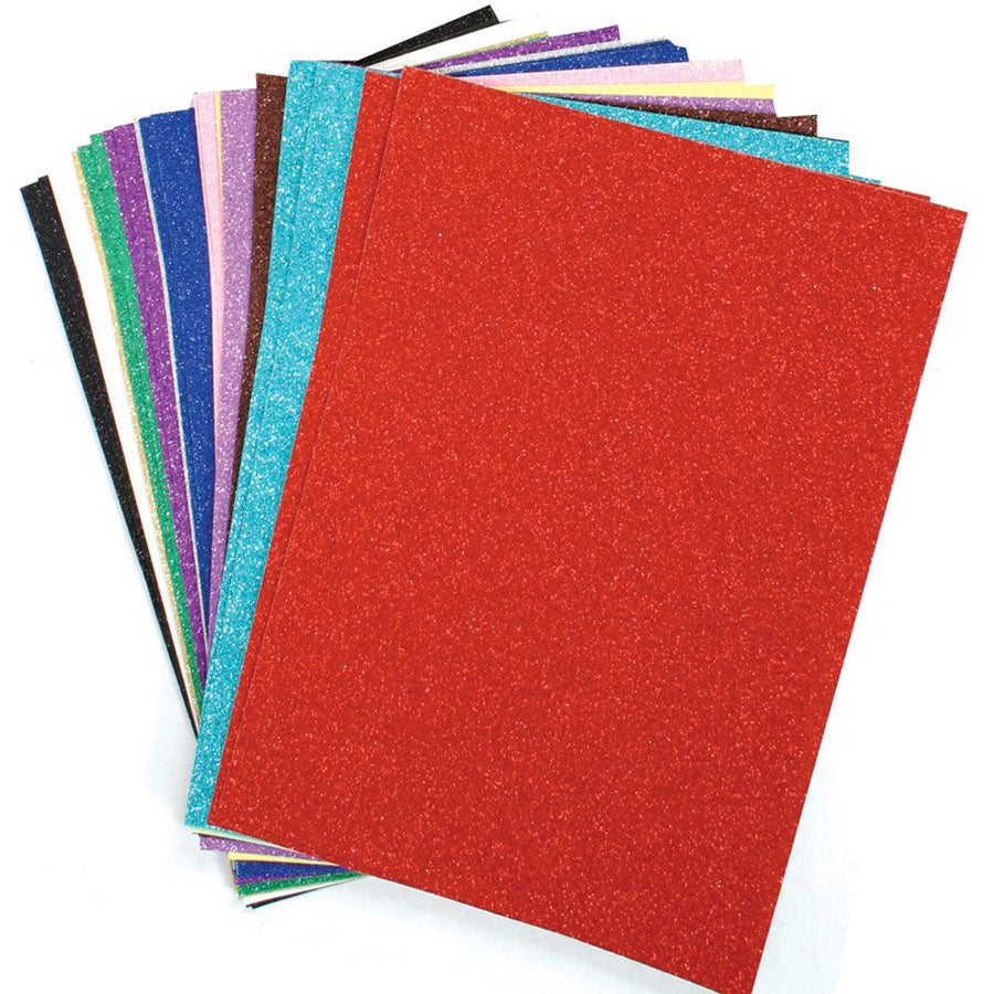 Stephens Glitter Card - 10 Sheets