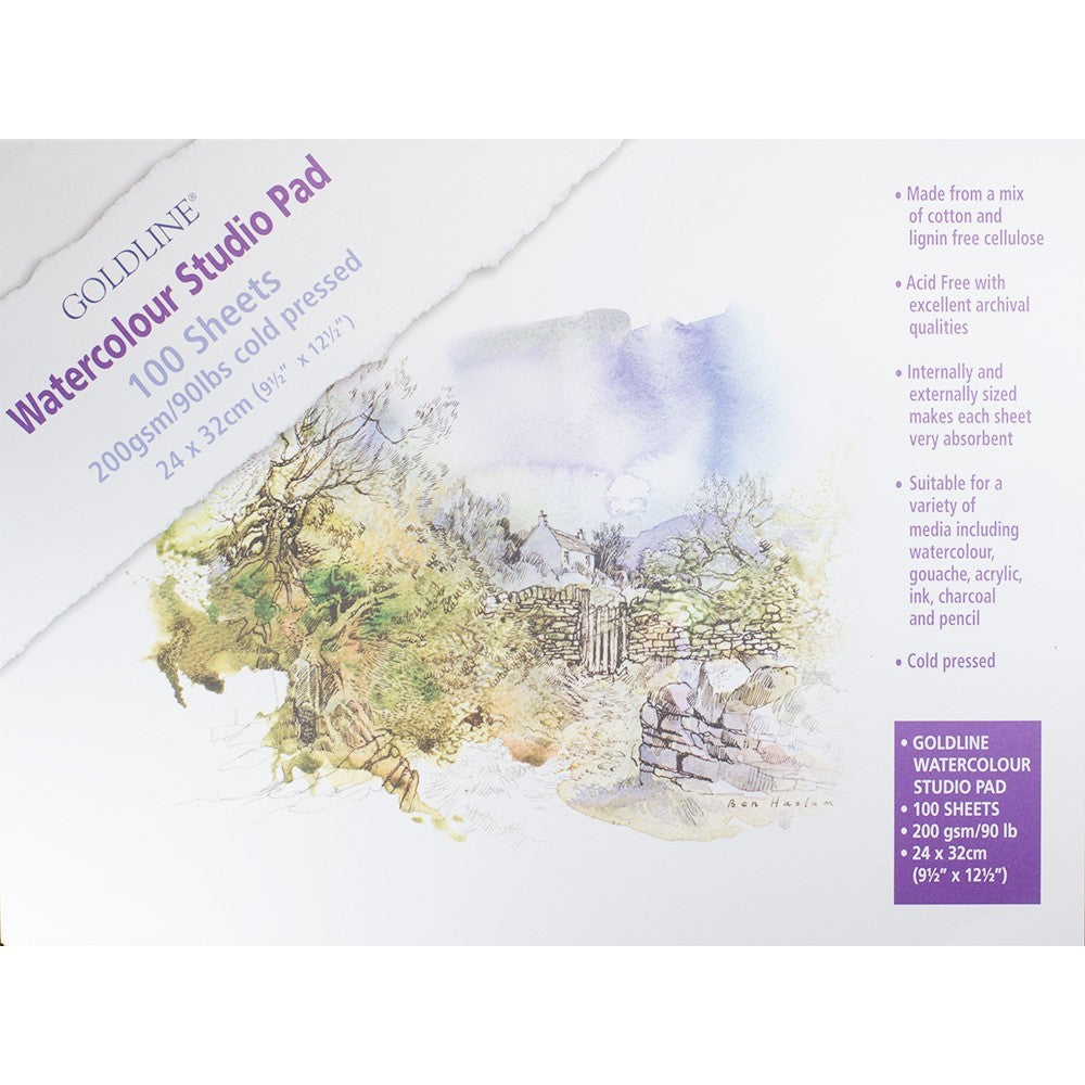 GOLDLINE Watercolour Studio Pad