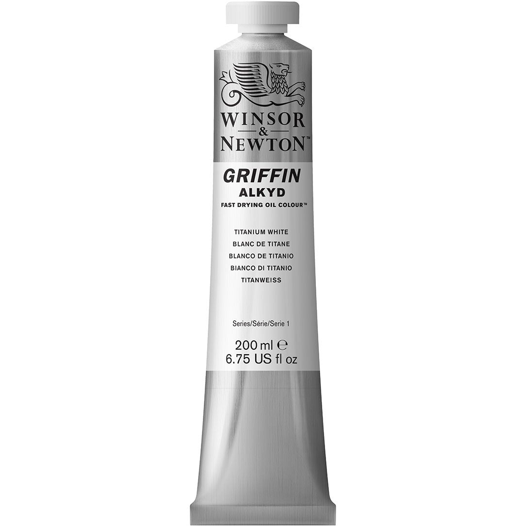 Griffin Alkyd Fast Drying Oil Colour 200ml - Titanium White