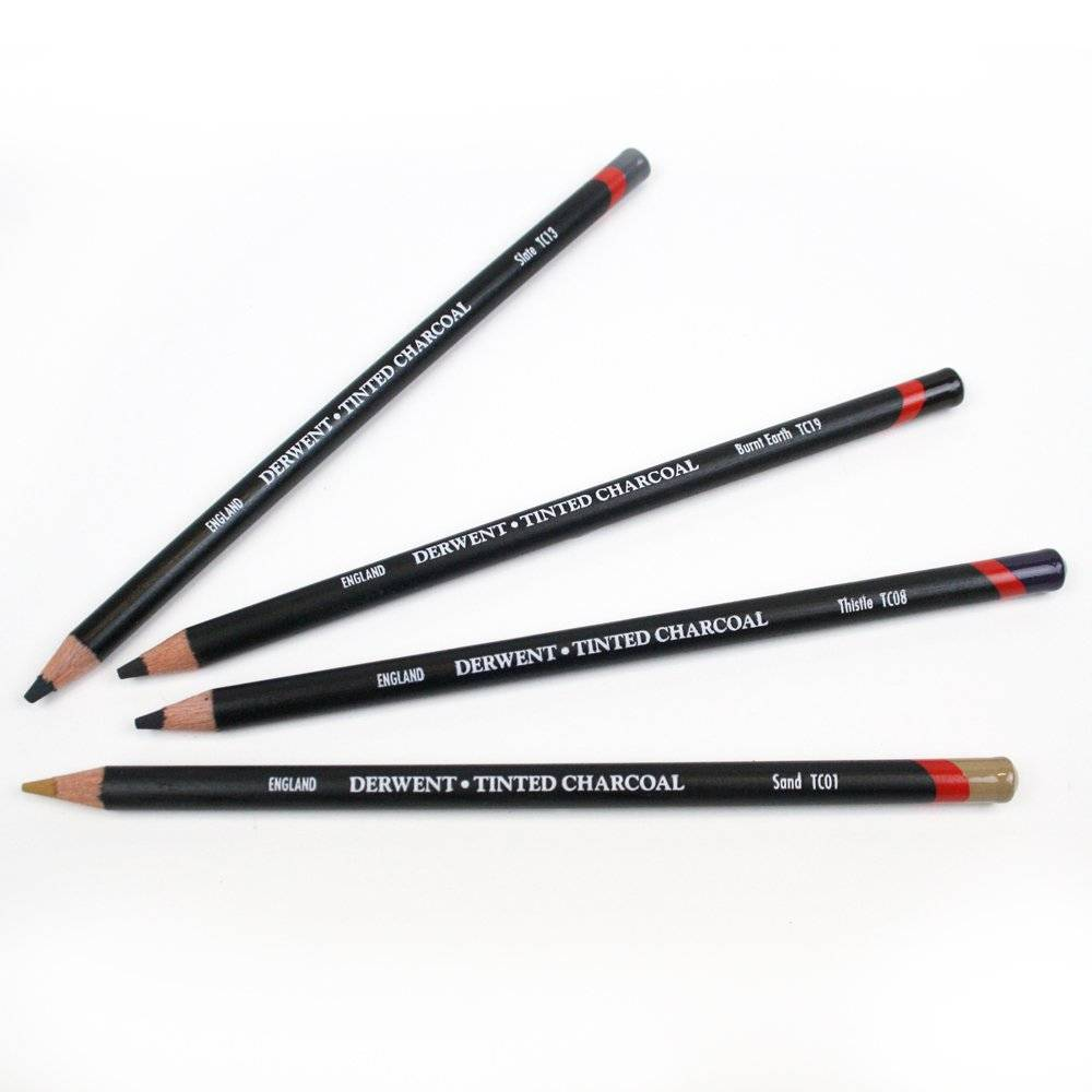 Derwent Tinted Charcoal Individual Pencils