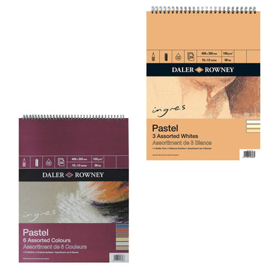 Ingres Spiral Pastel Pads Assorted Whites Pad