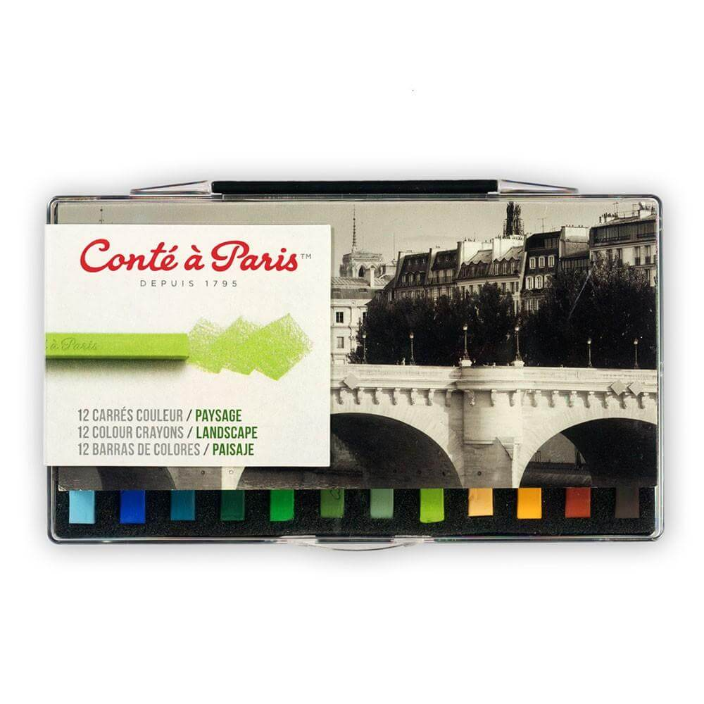 Conte Carres Landscape Crayons Set of 12