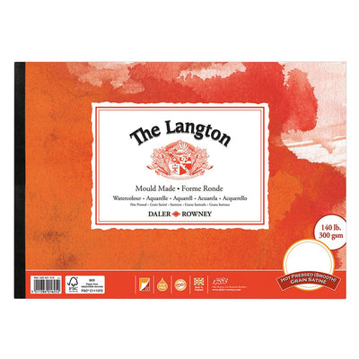 Langton Watercolour Pads Mould Made Extra Smooth (Hot Pressed)