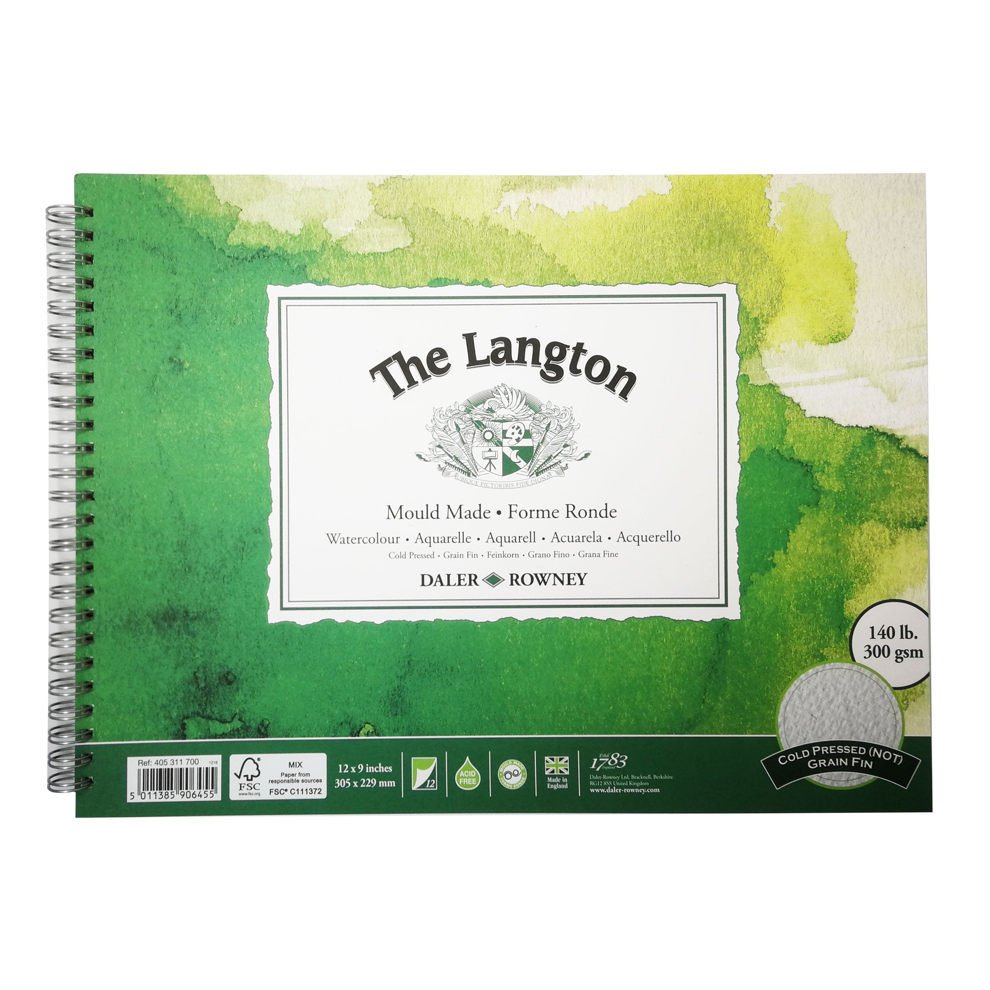 Langton Watercolour Spiral Pads (NOT Surface)