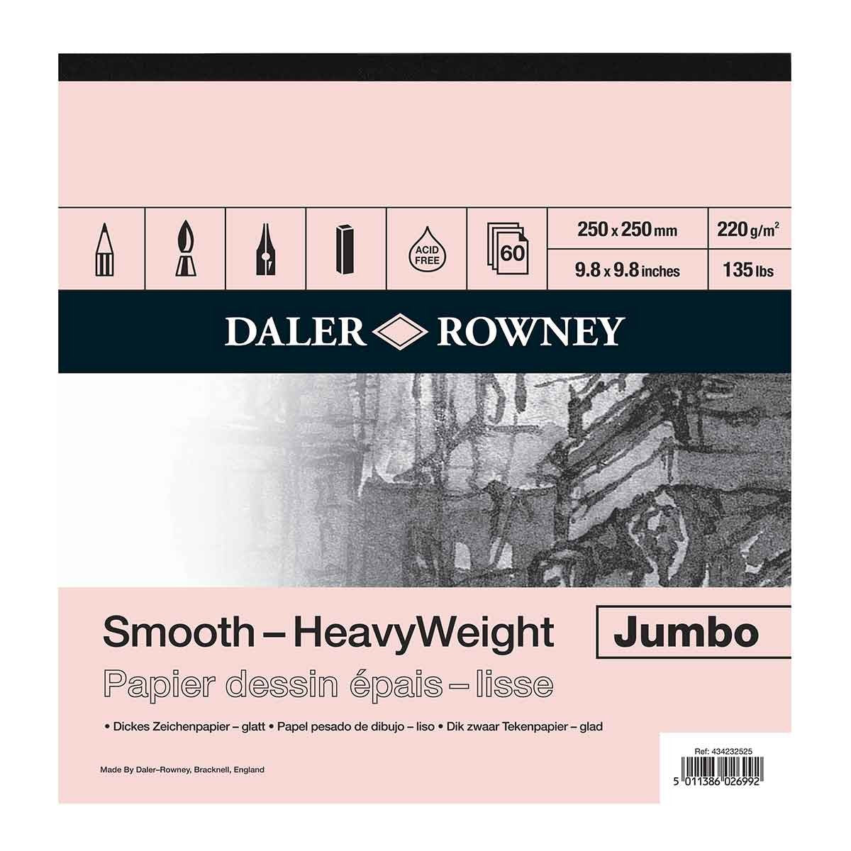 Daler Rowney Jumbo Heavyweight Cartridge Pad - 220gms