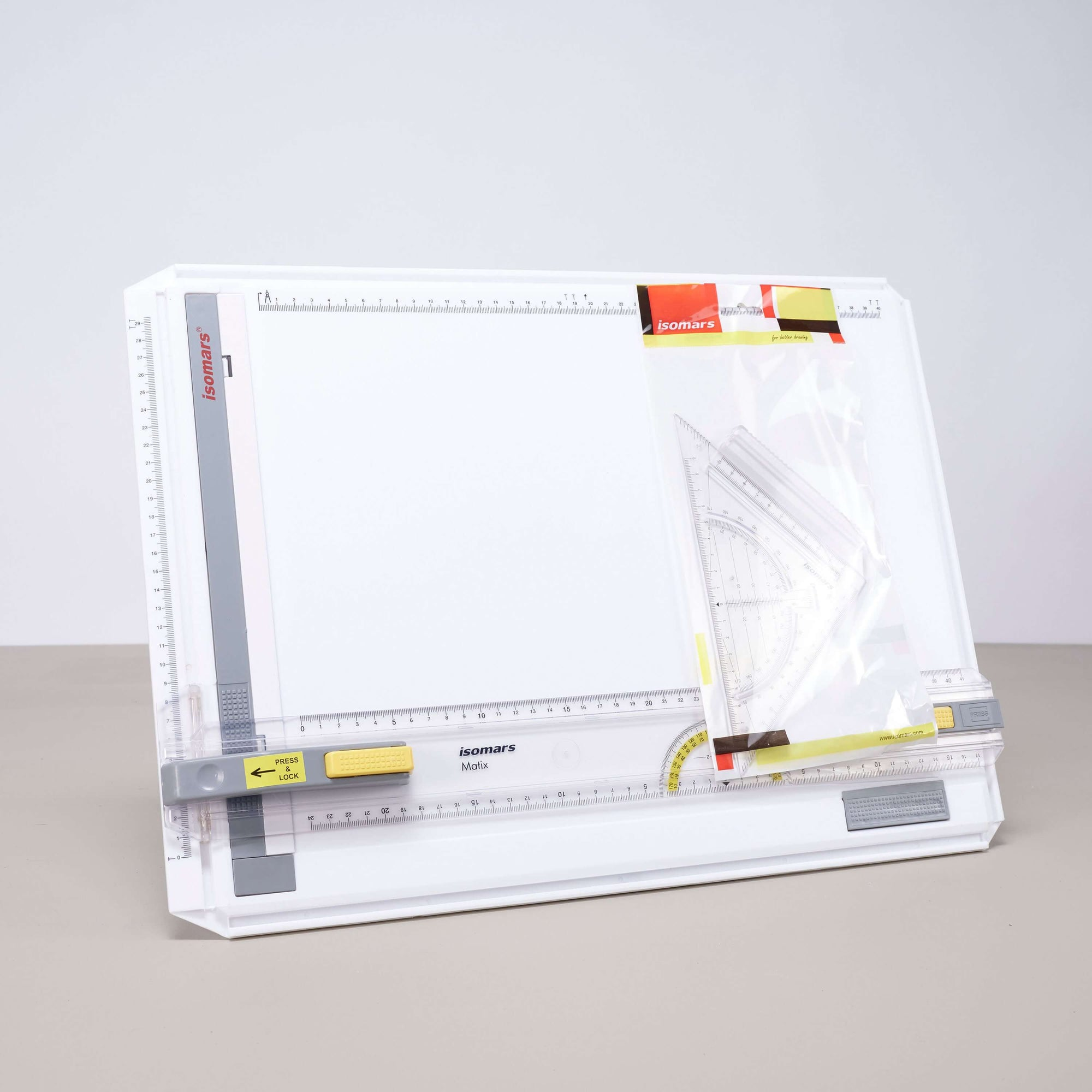 ARTdiscount ISOmars Drawing Board A3 (with Easy Sliding Ruler)