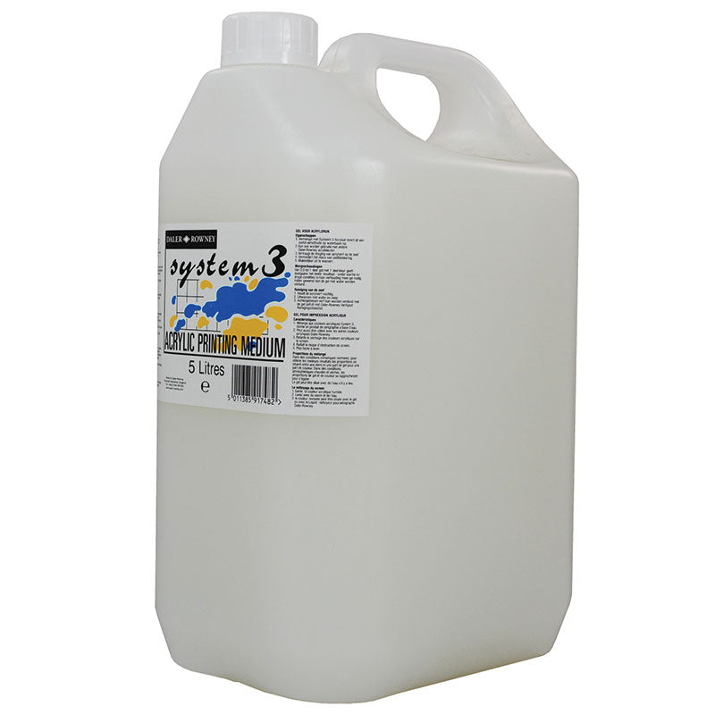 Daler Rowney System 3 Screen Printing Medium - 5 Ltr