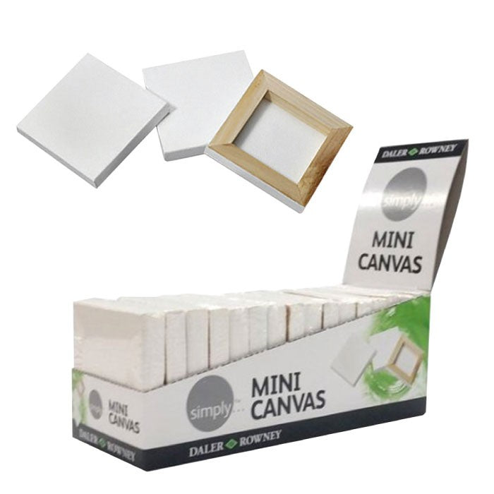"Daler-Rowney Mini Canvas Squares - 2.6x2.6"" (6.5cm approx.) - Pack of 16"