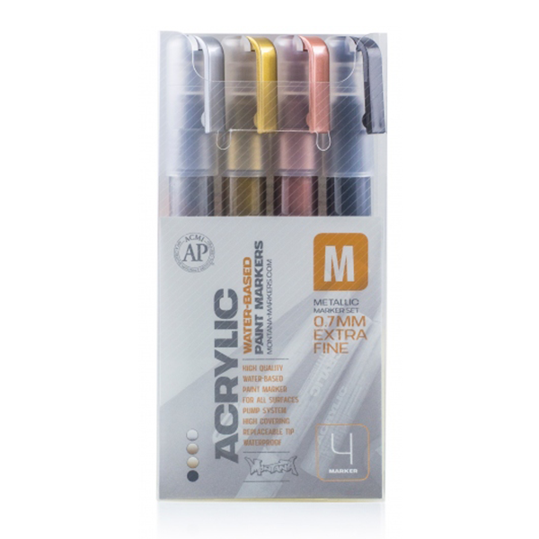 Montana Acrylic Marker Set - Metallic - 0.7mm