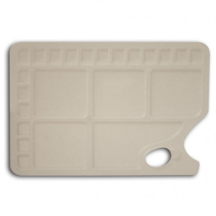 Plastic Oblong Palette with Thumb Grip