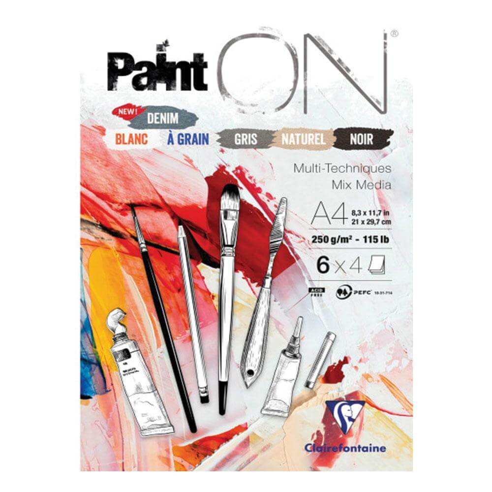 'Paint ON' Multi-Media Pads - 250gsm (115lb)
