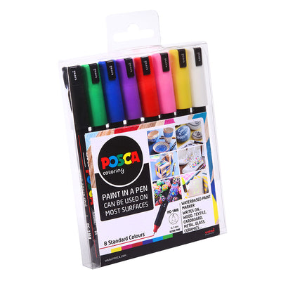 Posca Markers - 8 Standard Colours - Assorted Sizes