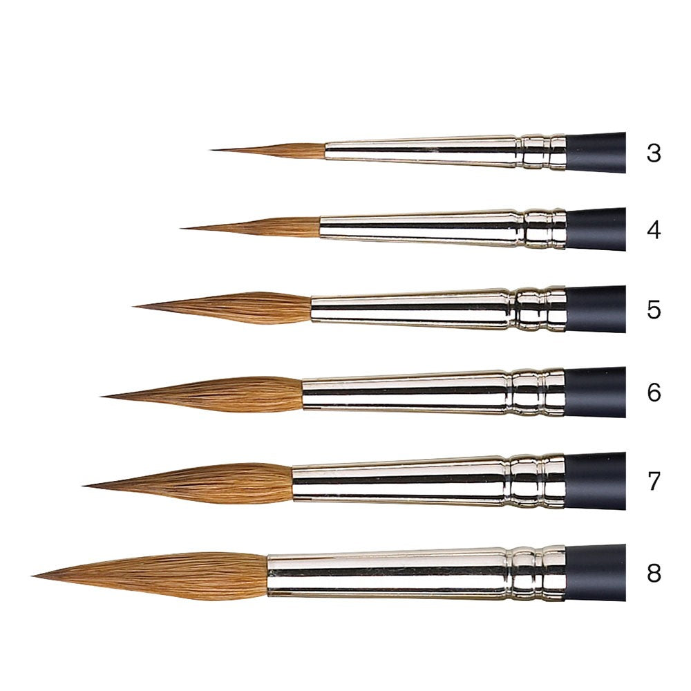 W&N Artists Water Colour Sable Brushes - Pointed Round