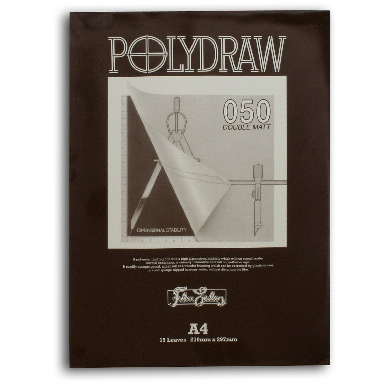 Polydraw Drafting Film 50 Micron Pads - 15 Sheets