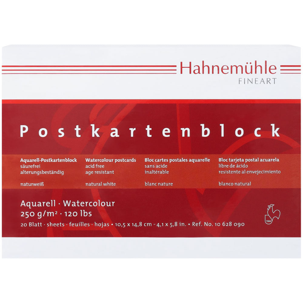 Hahnemühle Watercolour Postcard Pad 250g/m
