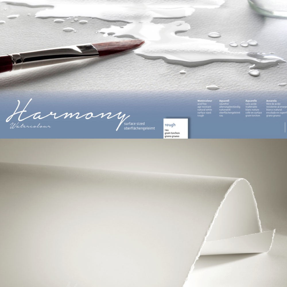Hahnemühle 'Harmony' Watercolour Sheets - 50 x 65 - Rough - 10 Sheets - 300gsm
