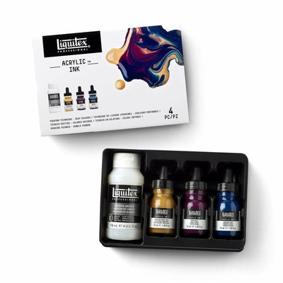 Liquitex Acrylic Ink Pouring Technique Deep Colours 4 Piece Set