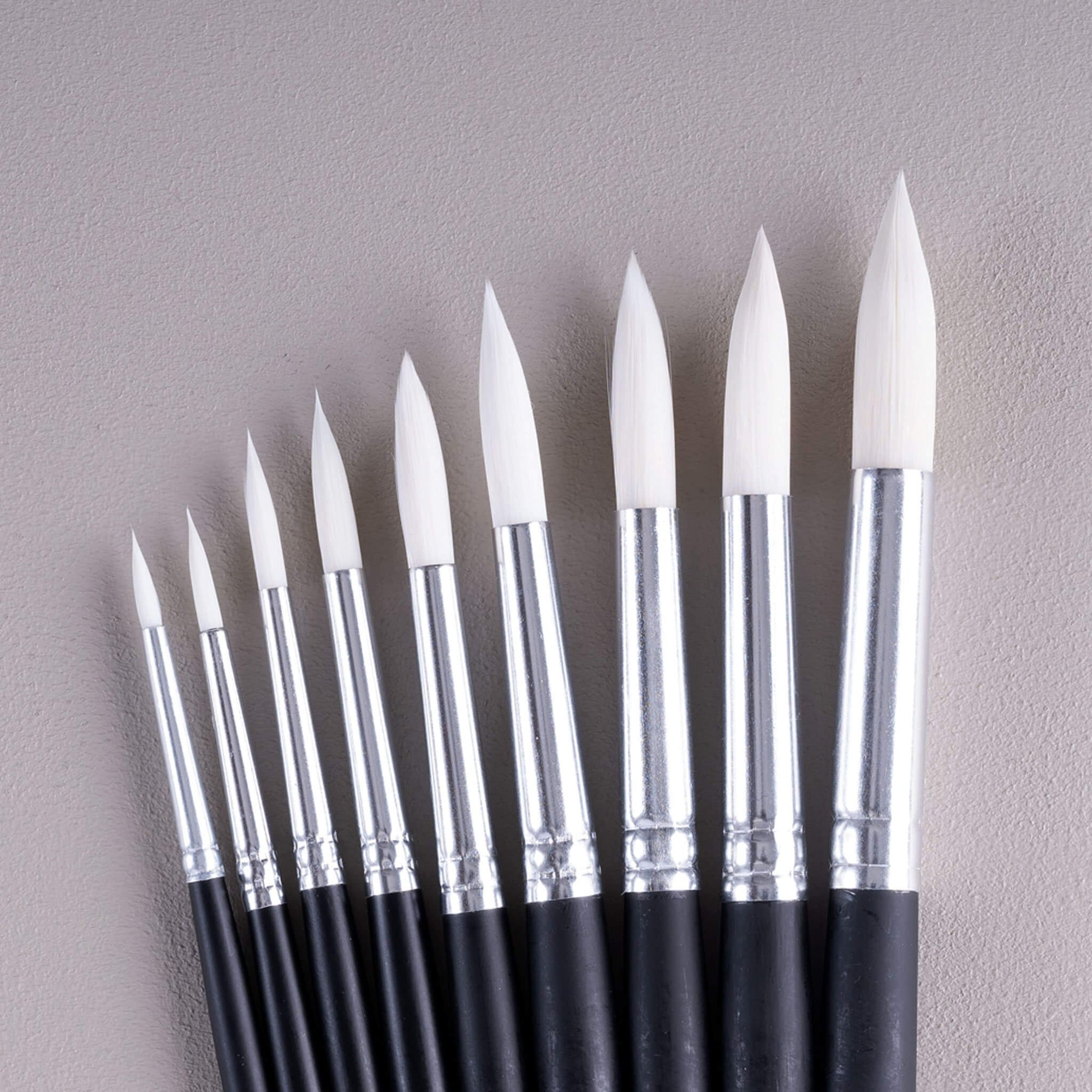 ARTdiscount School Brushes - Packs of 10 - Round