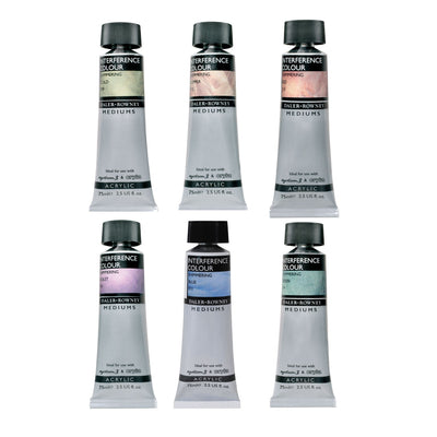 Shimmering Colour Mediums - 75ml Tubes