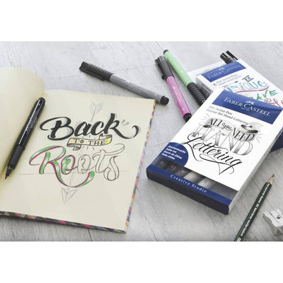 Faber-Castell Indian Ink Pitt Artist Pens - Hand Lettering (6pcs) - PASTEL COLOURS