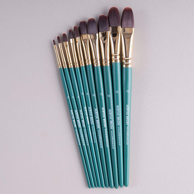 ARTdiscount Short Handled Artists Brushes - Filbert