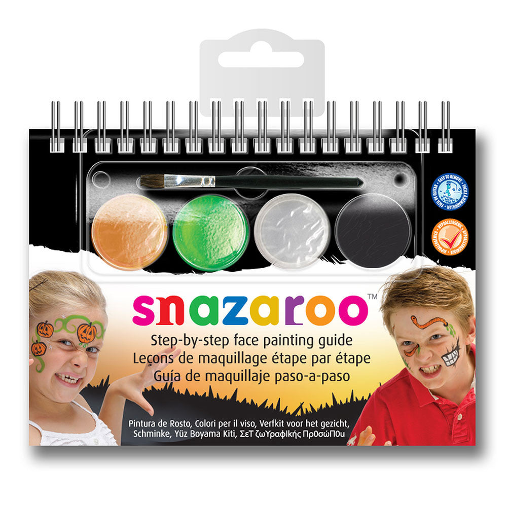 Snazaroo 4-Colour Halloween Step By Step Face Painting Booklet