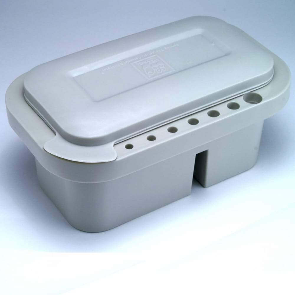 Brush Holder Tub With Integrated Palette/Lid