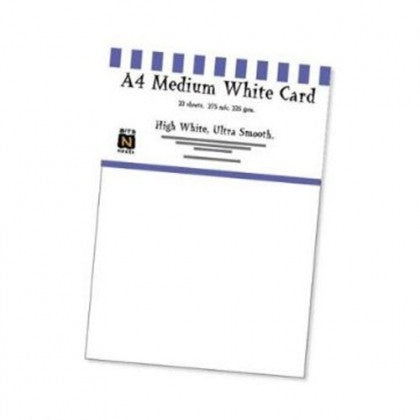 Southfield Packs of Medium White Card 225gsm/275micron - Pack of 22 Sheets