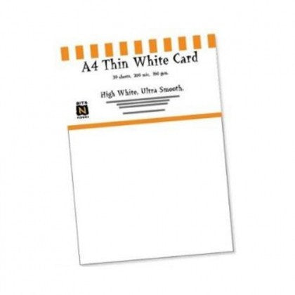 Southfield Packs of Thin White Card 160gsm/200micron - Pack of 30 Sheets