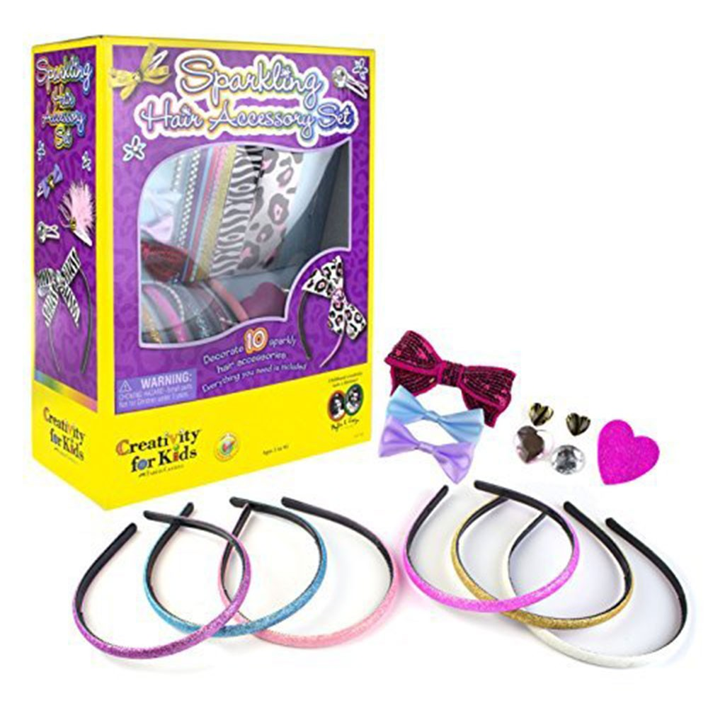 Creativity for Kids Sparkling Hair Accessory Set