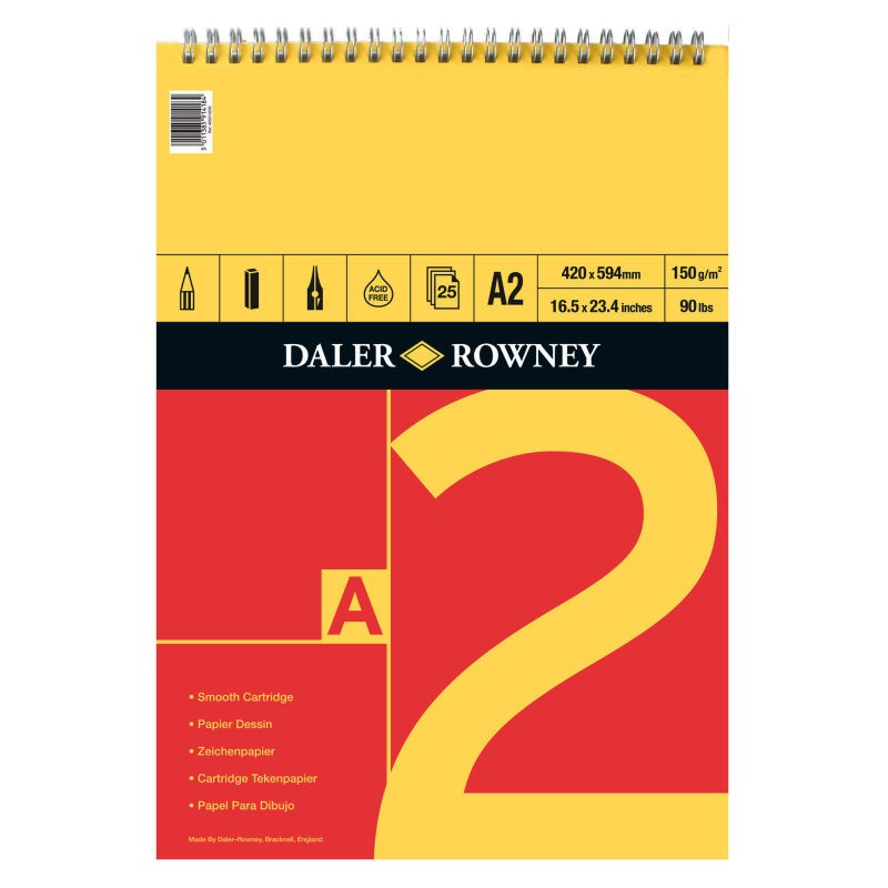 Daler Rowney Red & Yellow Spiral Bound Pad