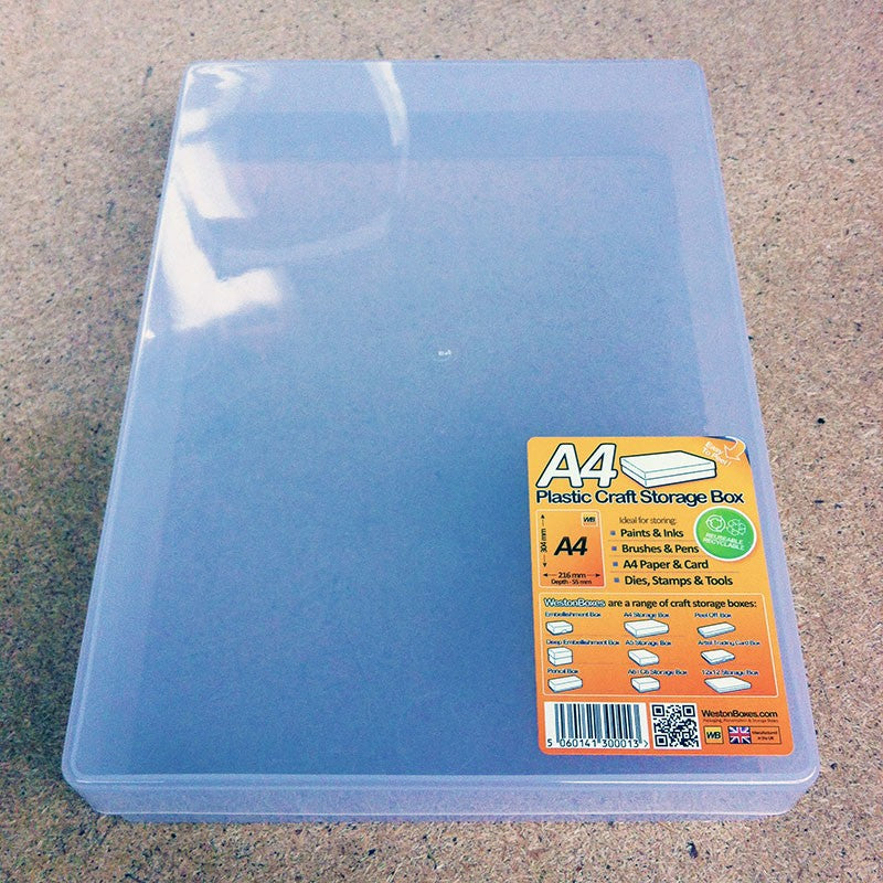 See Through Empty Craft Box with Lid - A5 - 220 x 160 x 55mm