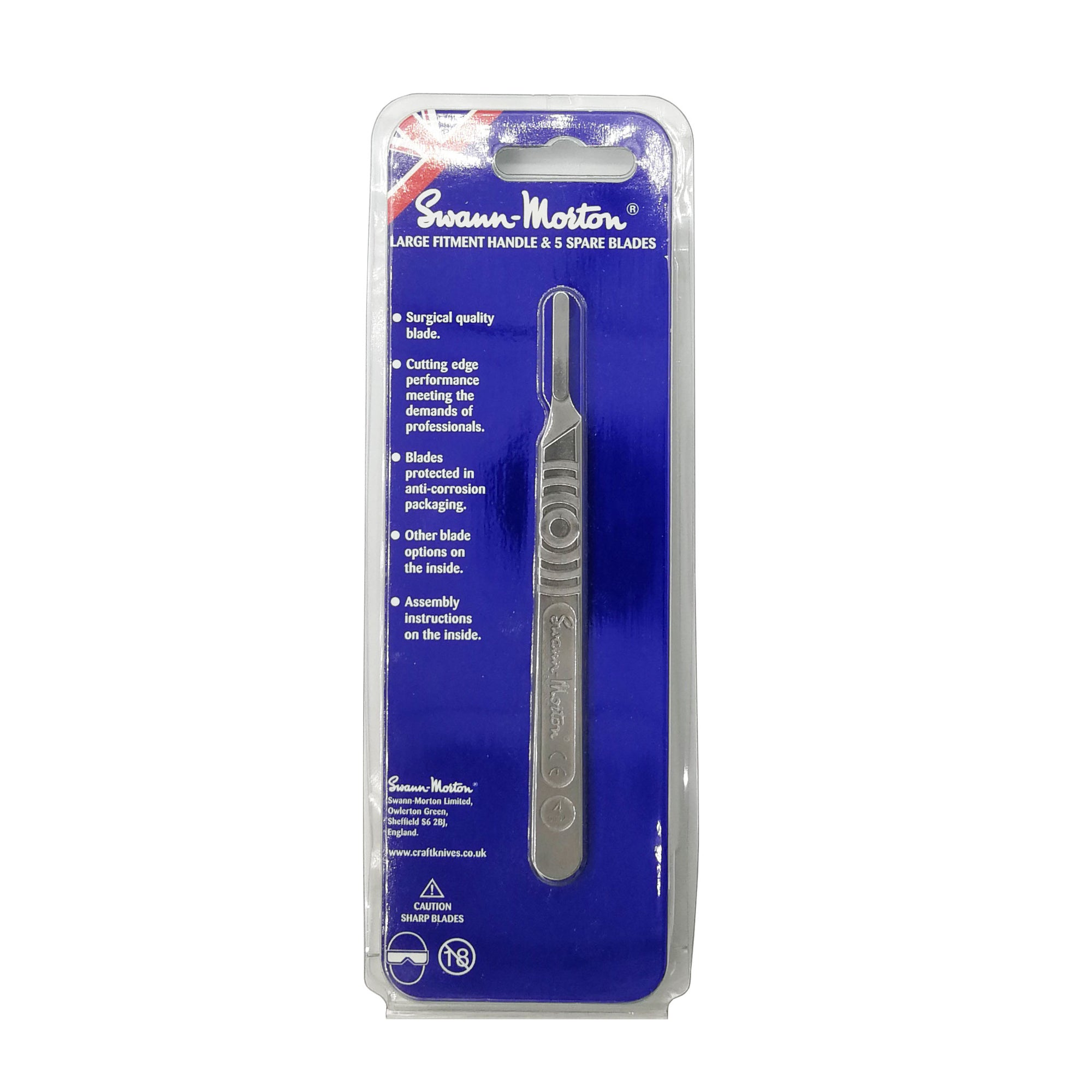 Swann-Morton No.4 Handle + Five No.26 blades