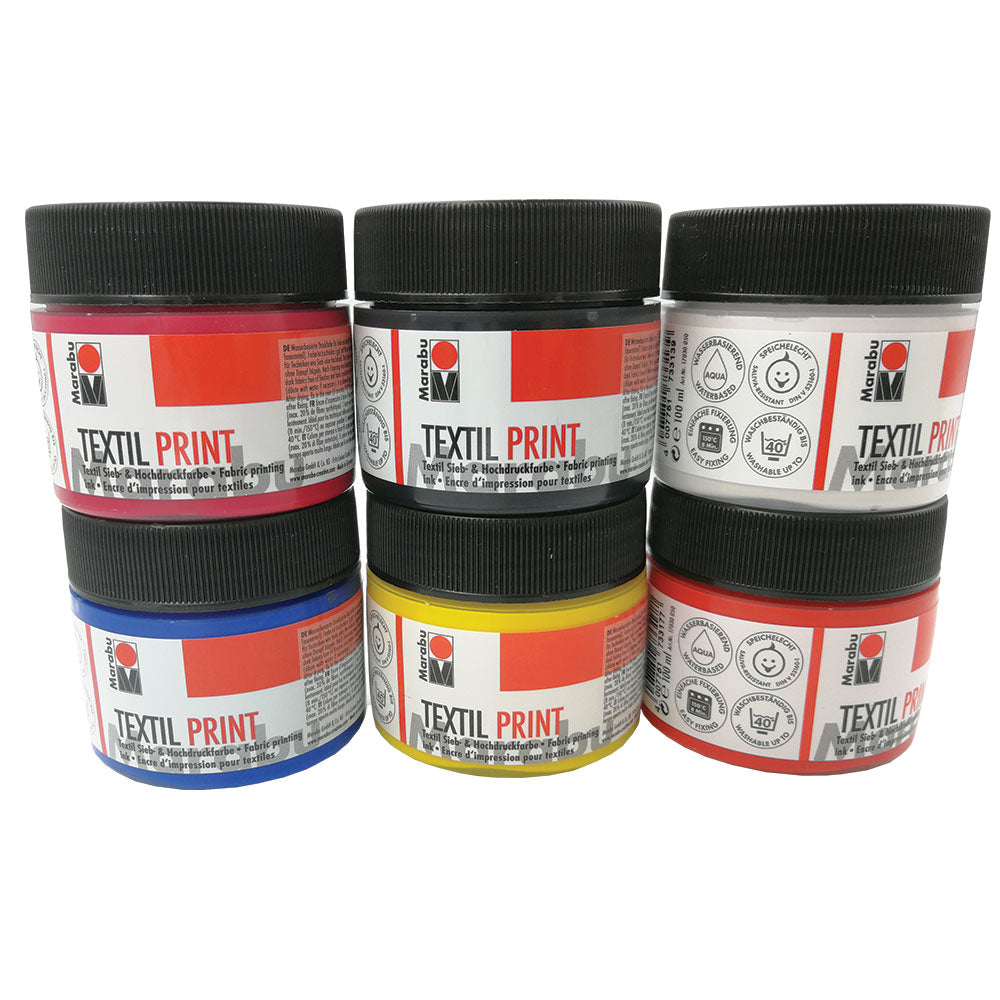 Marabu Textil Print Colours - 100ml Pots